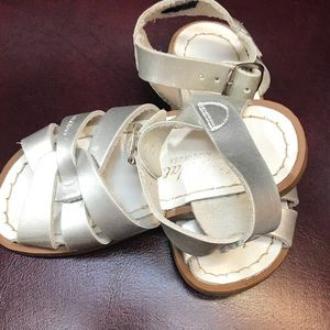 Silver Salt Water Sandals great condition